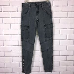 J Brand Vin Navy Gray Cargo Jeans Pants sz 27